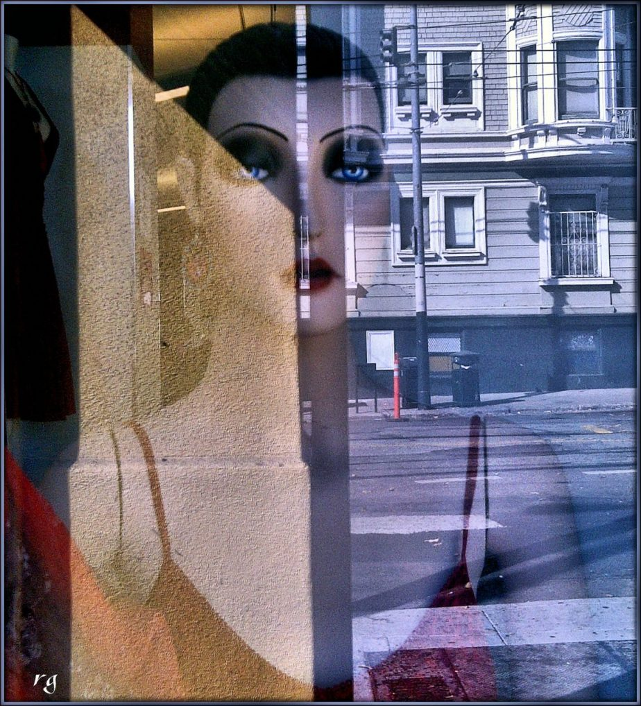Blackberry photograph of a mannequin in a shop window