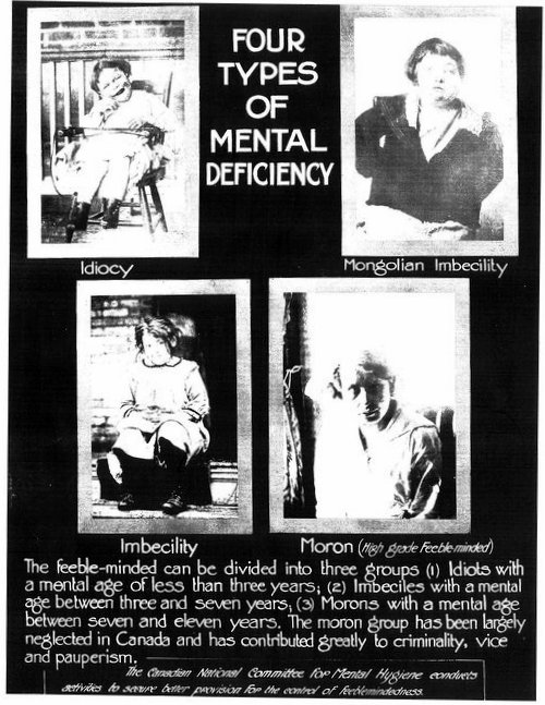 Eugenic-Poster-Four-Types-of-Mental-Deficiency