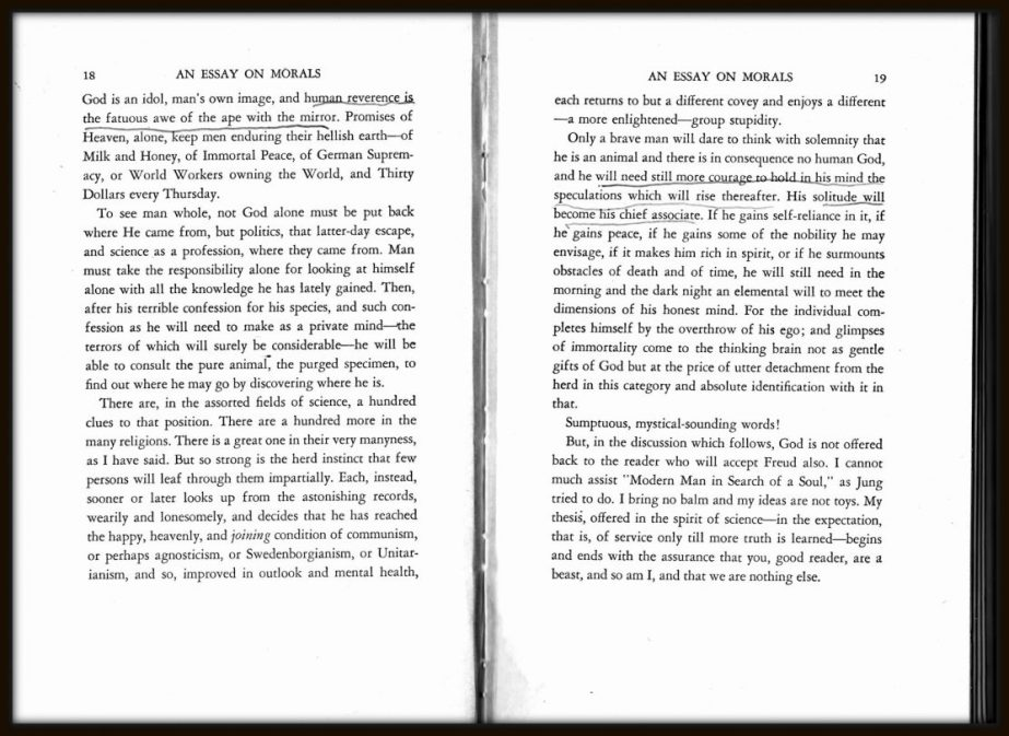 "Pages 18 and 19 of ""An Essay on Morals"""