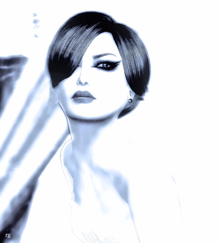 Virtual Reality Avatar designed to resemble the cover of Barbara Streisand's Color Me Barbara Allbum