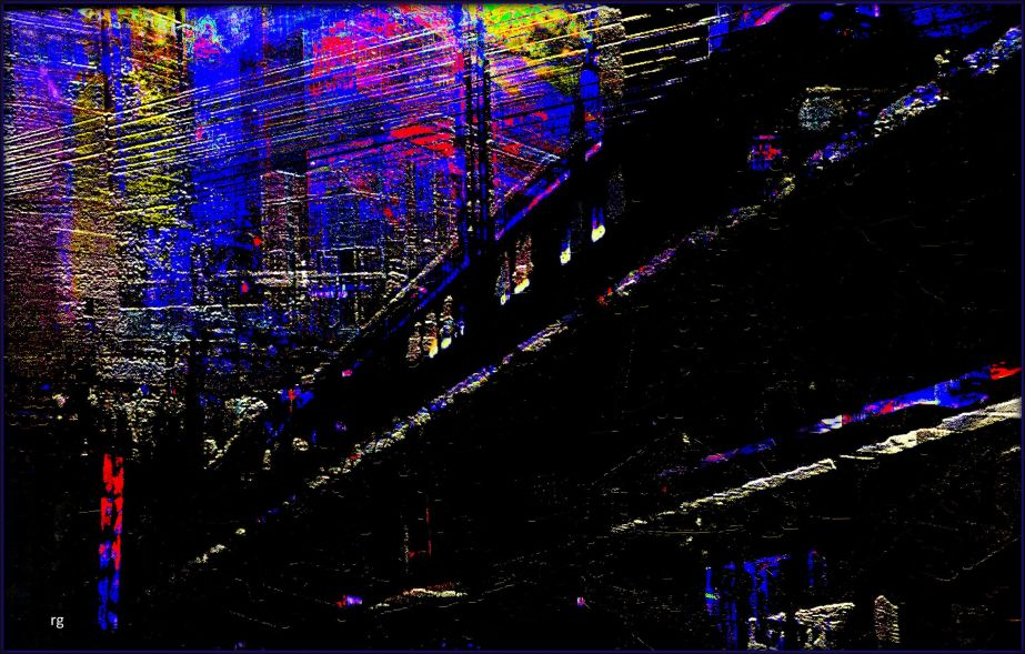 Montage based on a still shot from the film, Dark City