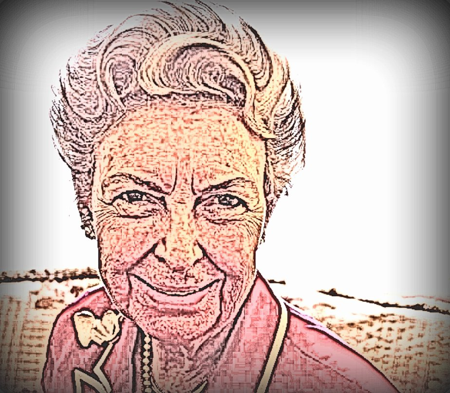 Portrait of Phyllis Schlafly reprocessed from a public domain image
