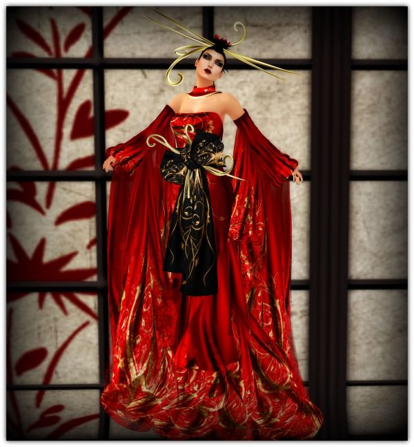 Hair- Baistice Hairbase- EMO tions EyeMake up - White widow Lipstick Delizio- dark glossy Red Gown- AZUL- K'aalogii in Red Shoes KC couture London Heels