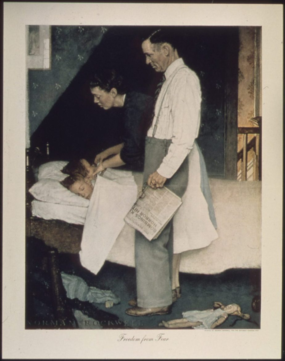 Public domain copy of Norman Rockwell's 'Freedom from Fear'