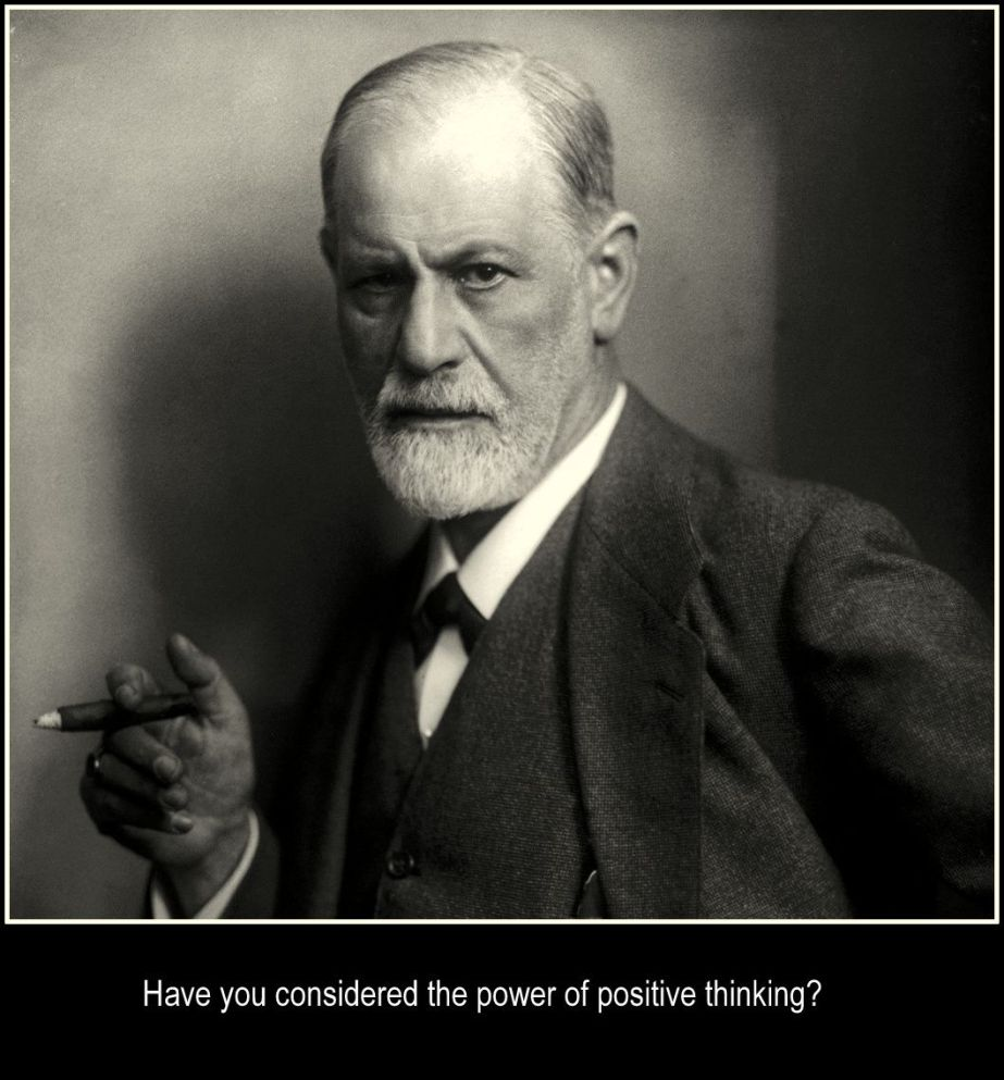 Based on a 1922 photograph of Freud in the Public Domain