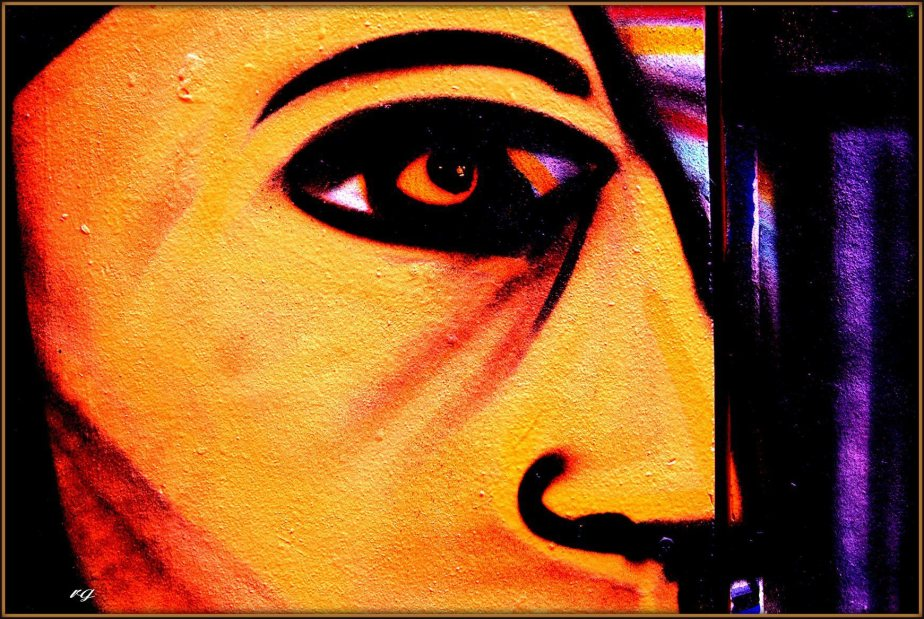 Section of a mural in San Francisco's Mission District depicting an eye