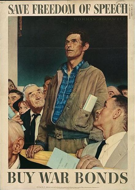 A scan of Norman Rockwell's Freedom of Specch