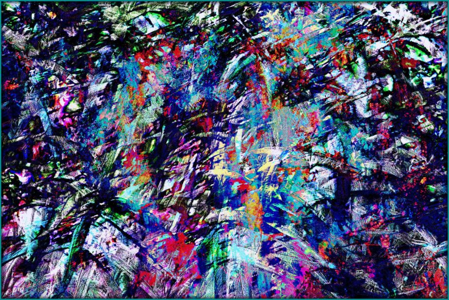 A colorful work of Abstract Art designed to represent a confusion of thought