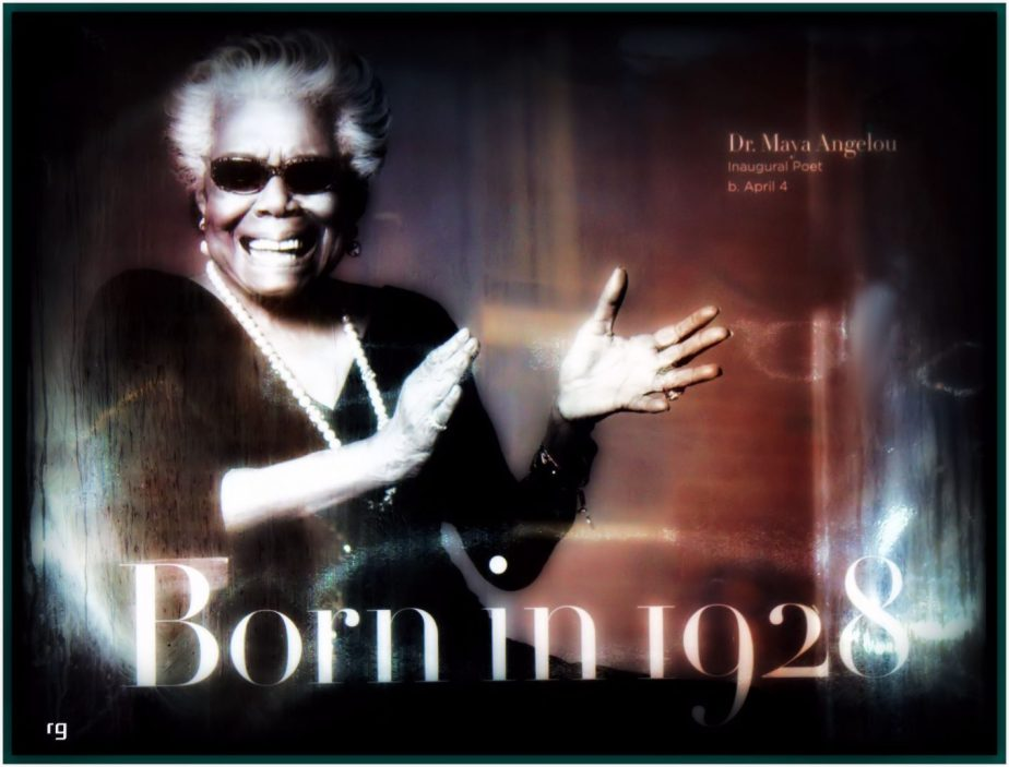 Photograph of a 2014 GAP Ad feturing an elderly Maya Angelou