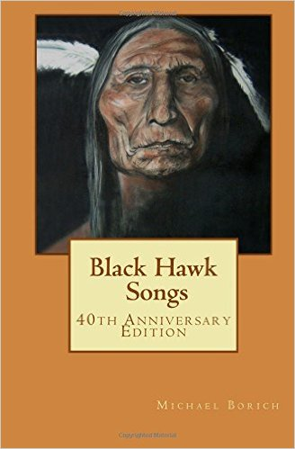 The Cover of Black Hawk Songs, a book of poems by Michael Borich