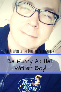 short story, writing, The Devil, The Nite Show, monologue jokes, humor, Modern Philosopher