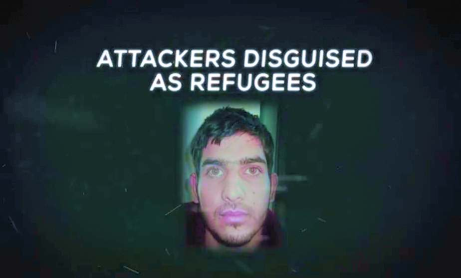 Screen Shot from a Political Ad Released by National Republican Senatorial Cmte on February 25th 2016. It is of a young Middle Eastern Male Described as an attackers disguised as a refugee