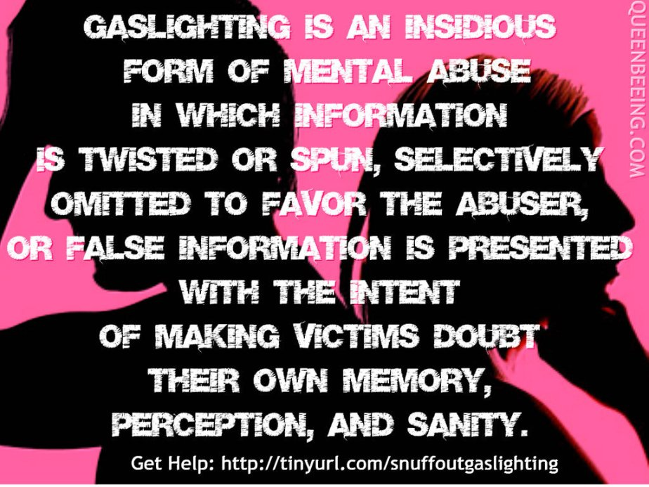 A graphic that describes gaslighting