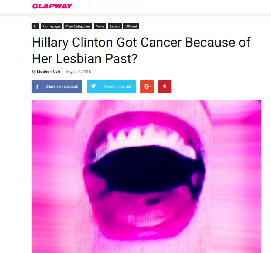 Wikileaks BOMBSHELL Reveals that Hillary Clinton has Cancer!