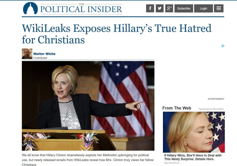 Wikileaks BOMBSHELL Reveals that Hillary Clinton Hates Christians!