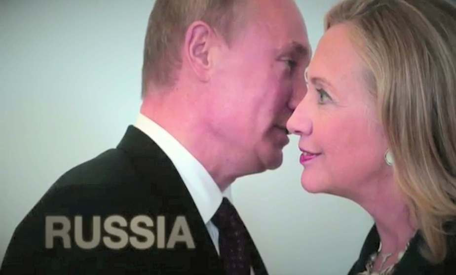 A photo of Hillary Clinton and Vladimir Putin that is faked