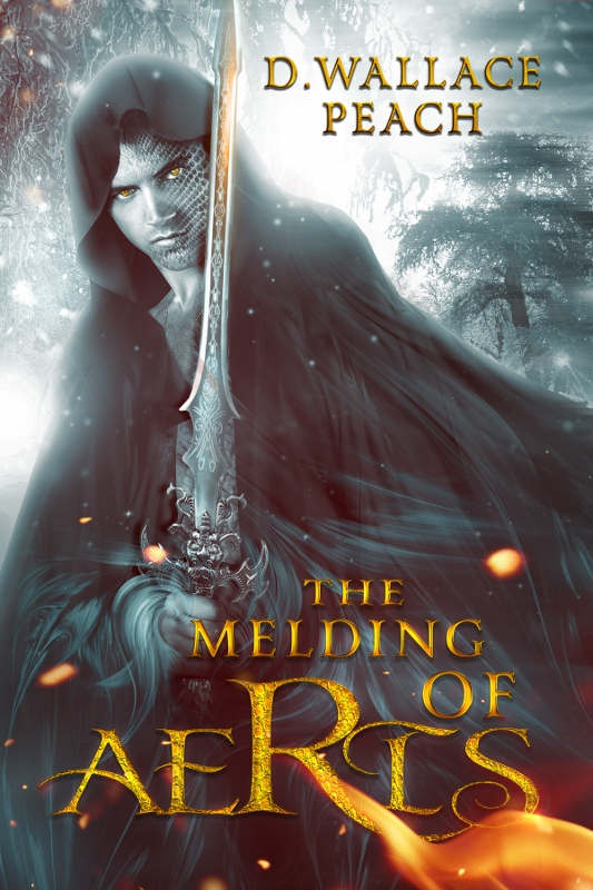 The cover of the fantasy novel, The Melding of Aeris by D. Wallace Peach