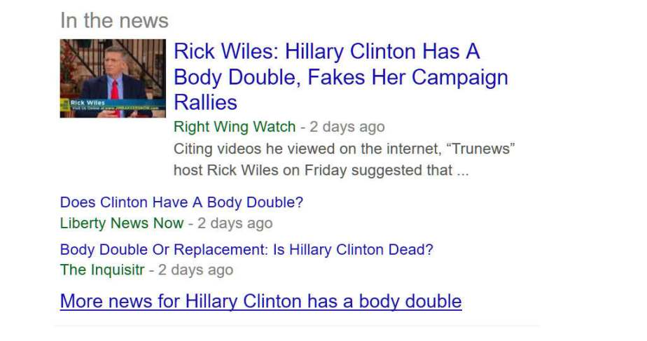 September 21, Clinton's Body Double