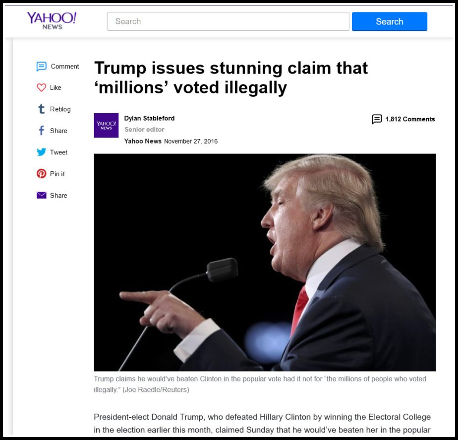Millions Voted Illegally