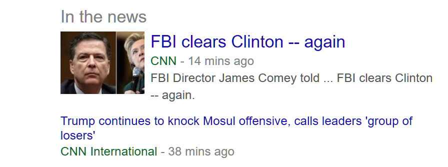 November 6, Clinton cleared again