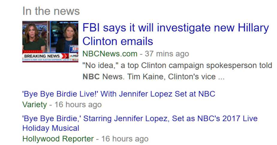 Screenshot October 26, The FBI Announces it will investigate Clinton's email
