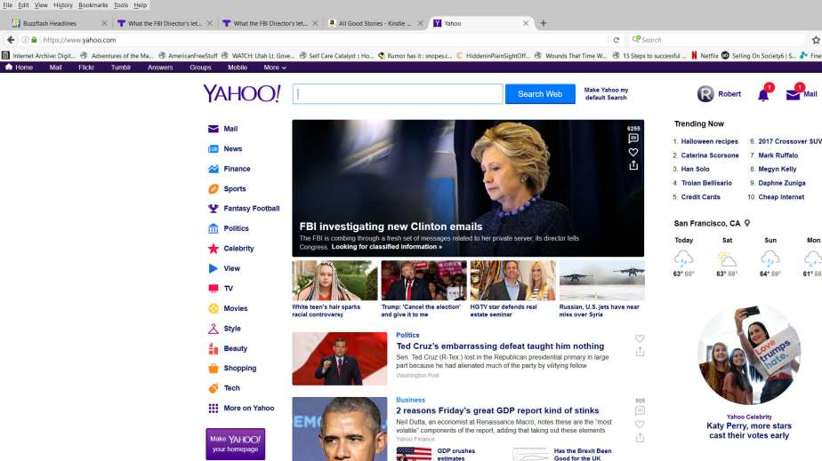 Screenshot October 28, Yahoo Headline