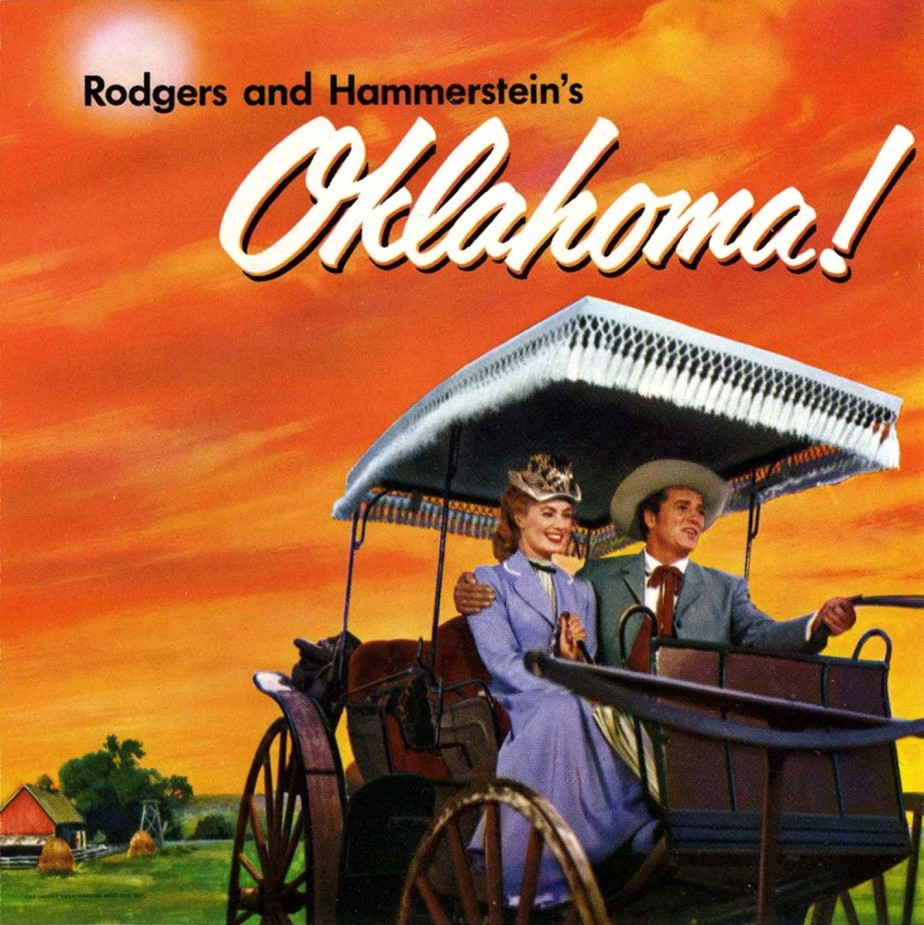 Cover of the 1955 recording of Roger's and Hammerstein's Oklahoma