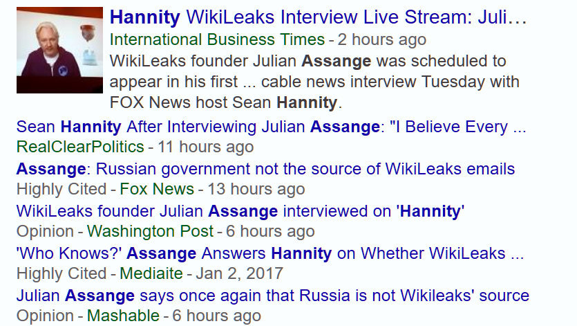 Screenshot of Fox News lying for Vladitmir Putin