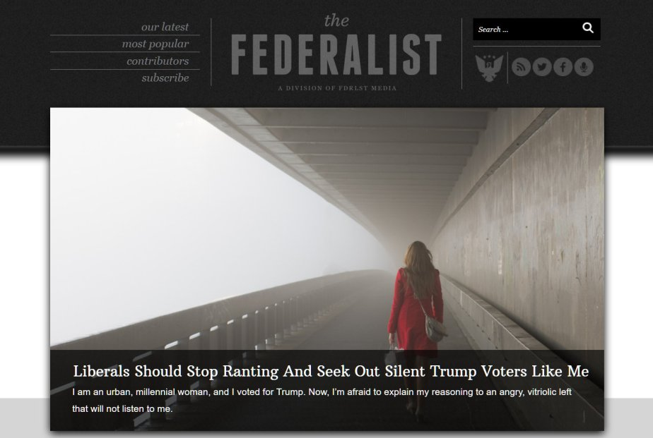 Screenshot of the Federalist
