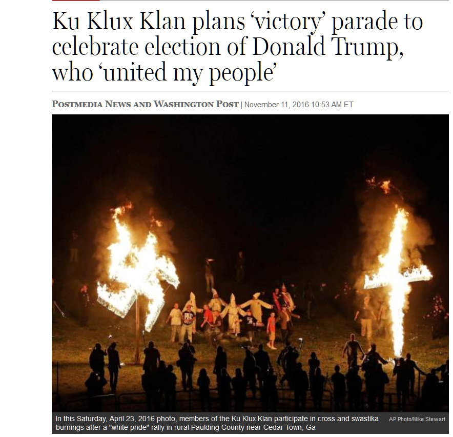 Photo of Ku Klux Klan rally.