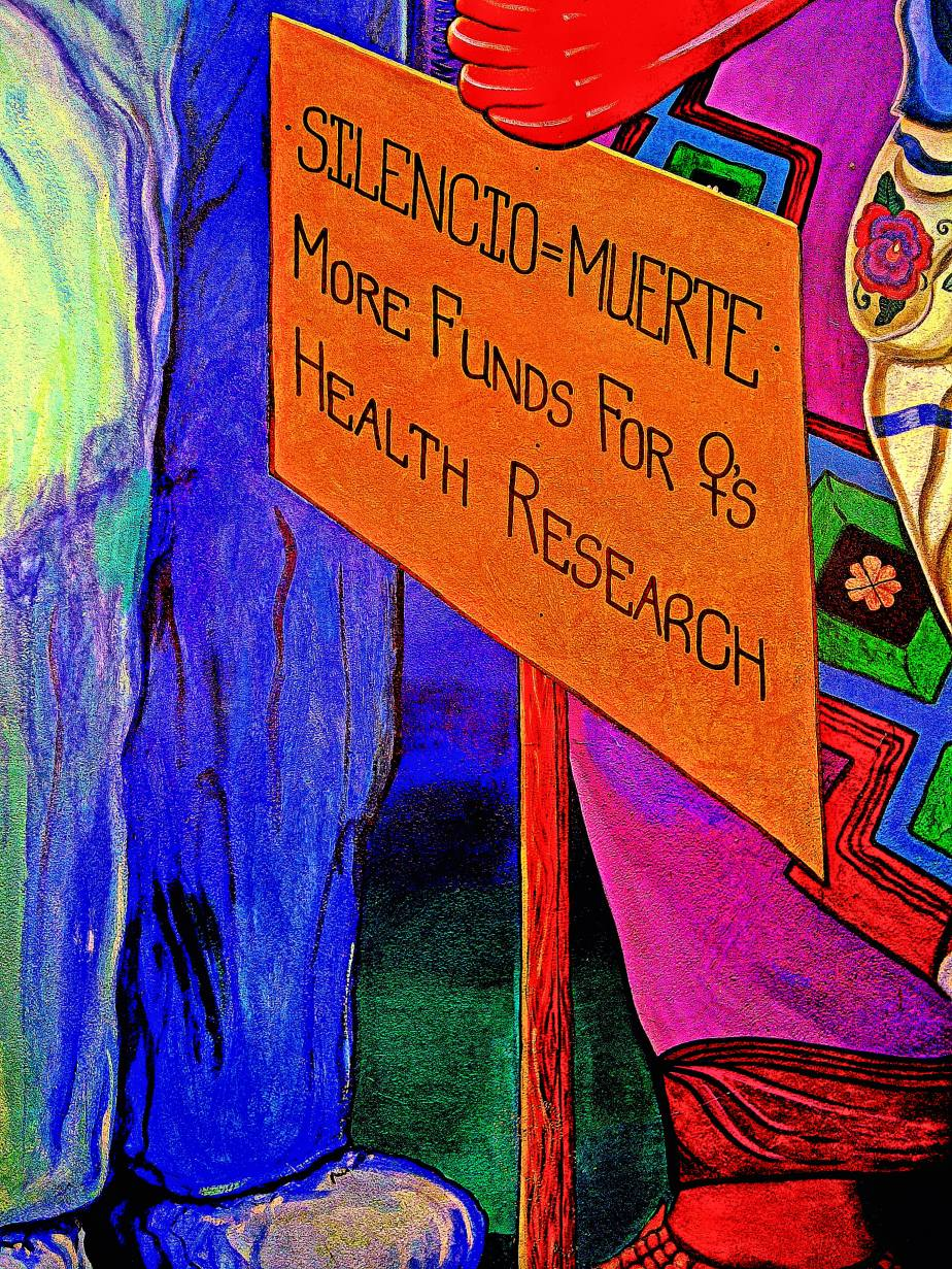 image of a section of mural on the San Francisco Woman's Building
