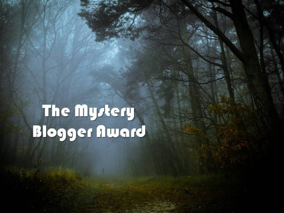 a dark mysterious forest to represent the mystery blogger award