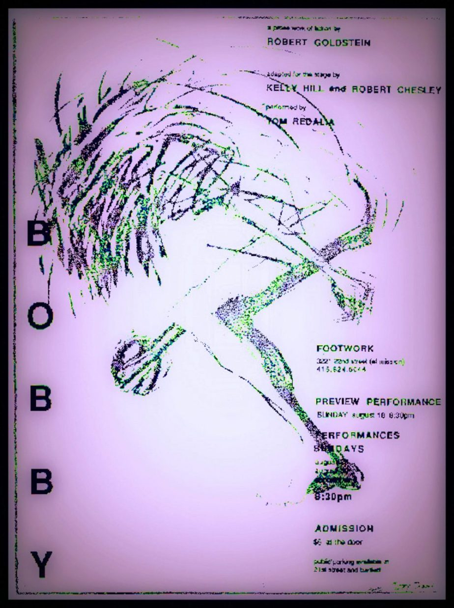 A shamanistic image on a flyer for a theatrical production of a play