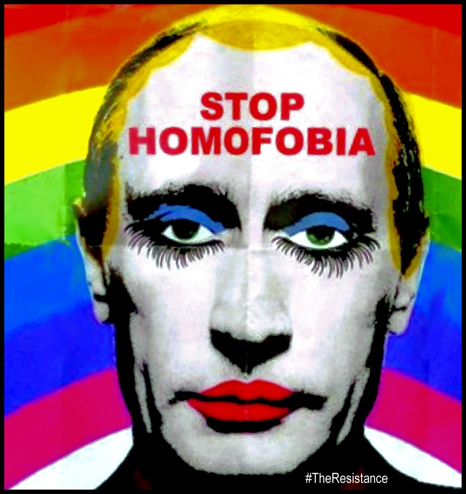 Reprocesed photo of Vladimir Putin as a gay clown. Source image found online