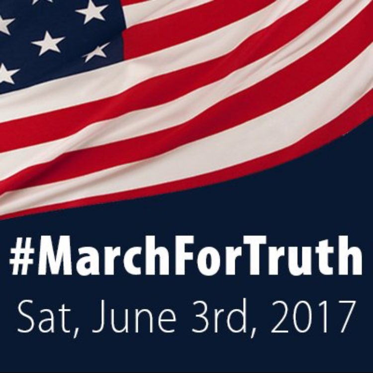 Internet meme promoting a national June 3rd March for Truth