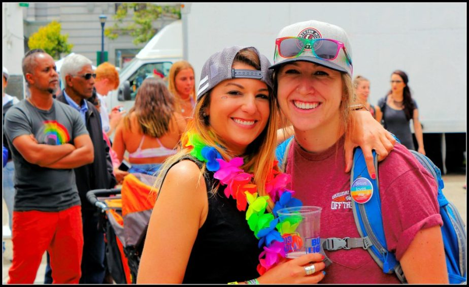Photo of two young women at San Francisco Pride 2017