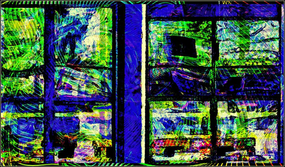 Digital Abstract of a surrealist view through a window
