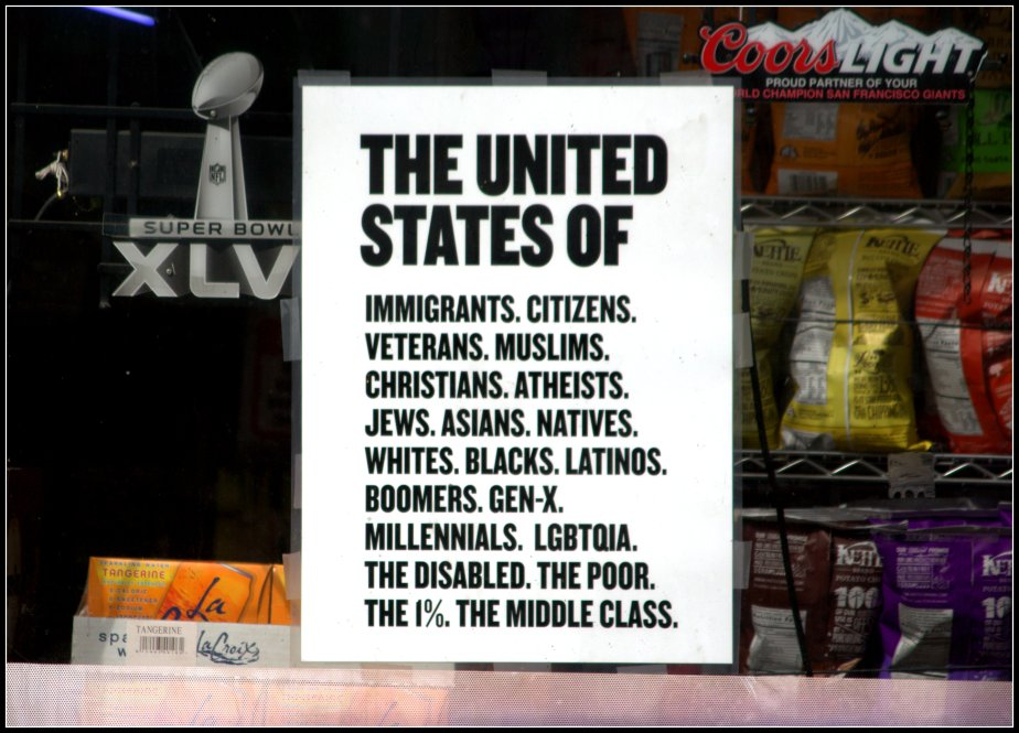 A photograph taken of a flyer in one of the Corner Stores around Alamo Square Park in San Francisco