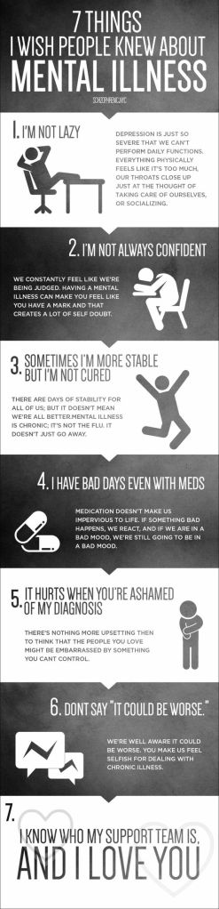 Seven things I wish people knew about mental illness found on Pinterest