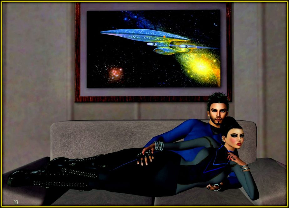 Photo of a male and female Avatar to represent the Star Trek characters of Spock and Dr McCoy, with Spock as a female.