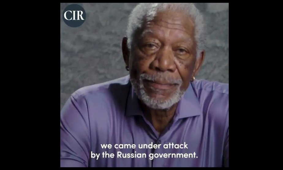 Morgan Freeman Explains Russia's Attack on the United States