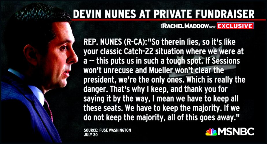 Devin Nunes commits treason behind closed doors.