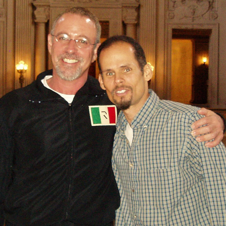 Photograph of two men in San Francisco City hall
