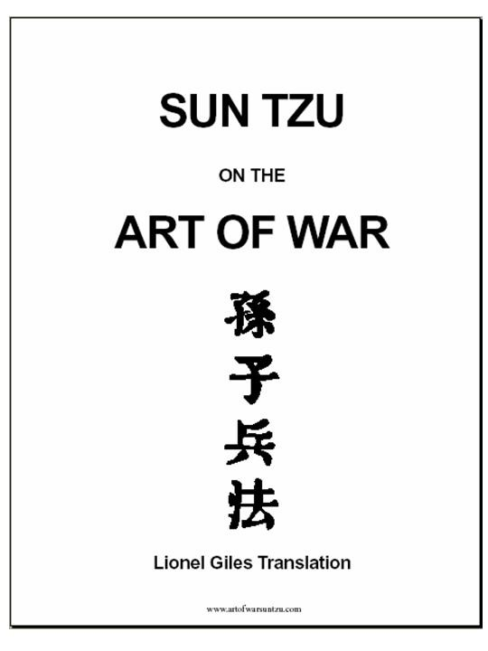 """The #Art of #War"" by Sun Tzu"