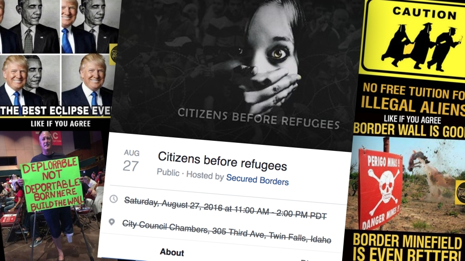 A russian Facebook ad that creates a false dichotomy between citizens and Refugees