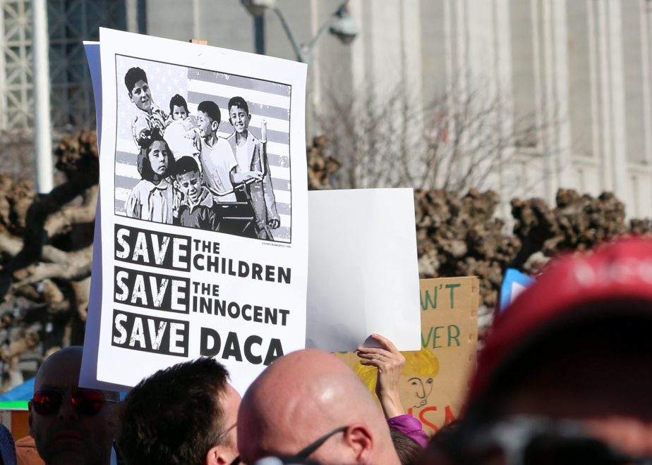 A sign at the 2018 San Francisco Women's March in support of DACA