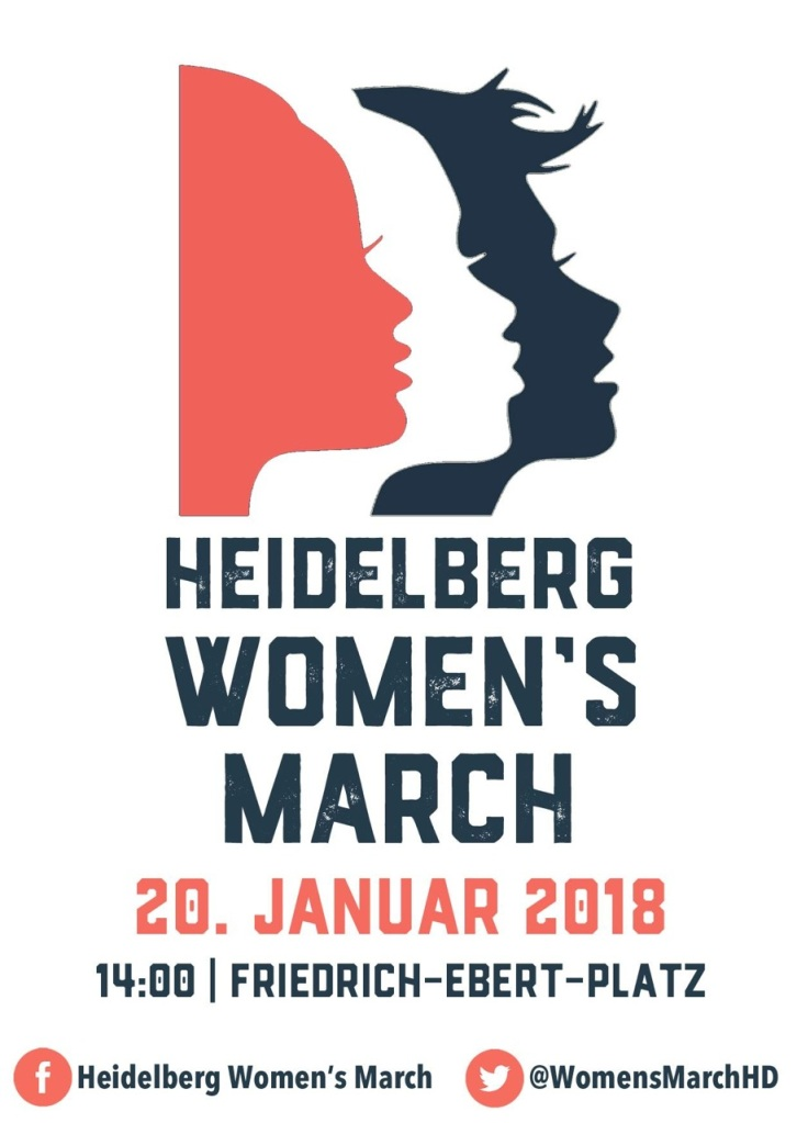Flyer for the 2018 Women's March in Heidelberg Germany