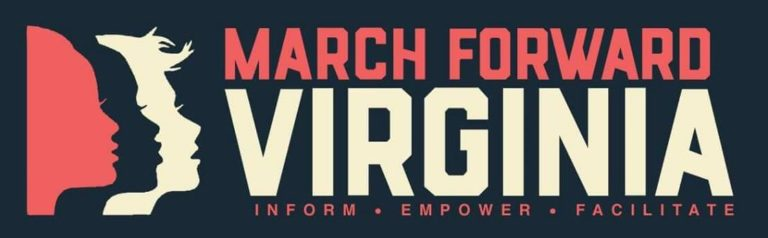 Flyer for the 2018 Women's March in Virginia
