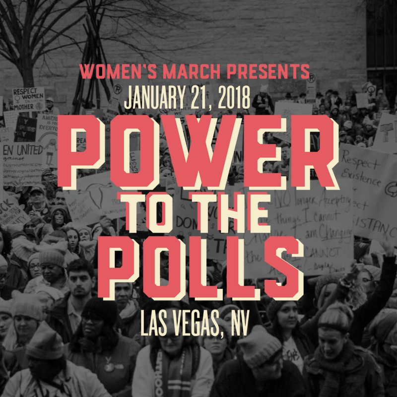 Flyer for the 2018 Women's March Las Vegas
