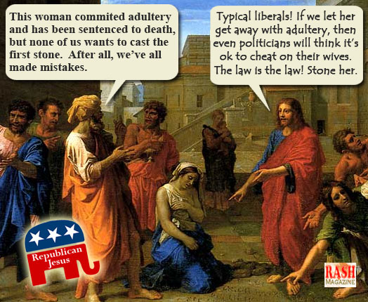 epublican Jesus -- Typical Liberal meme
